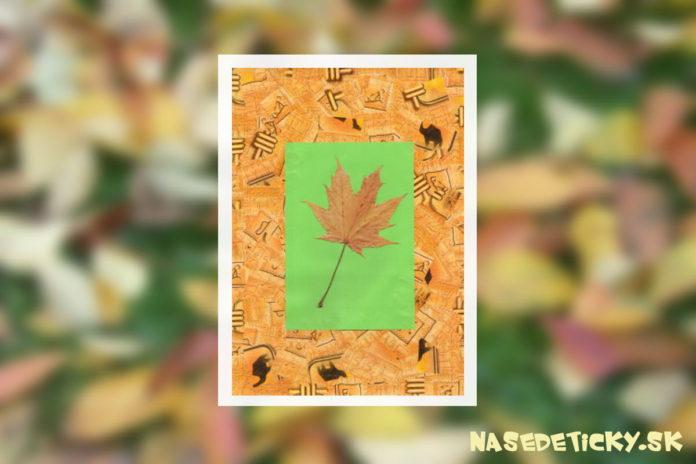 Jesenný obraz - jesenné inšpirácie do domácnosti