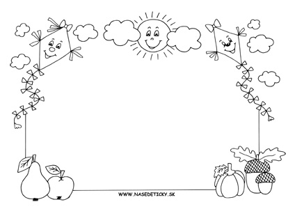 Jesenný obrázok pre deti