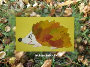 Ježko - tvoríme z listov na jeseň
