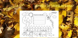 Jesenný pracovný list pre deti