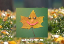 Listová tvárička - tvoríme na jeseň z listov