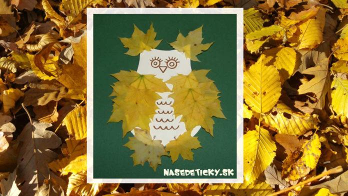 Sova - tvoríme s deťmi na jeseň