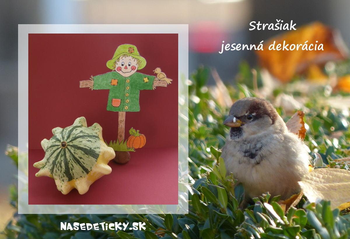 Strašiak - jesenná dekorácia