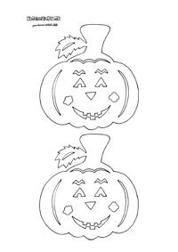 Tekvica - jesenné vystrihovačky na okno