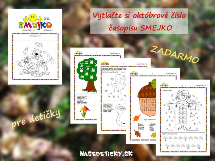 Časopis SMEJKO - október - časopis pre deti
