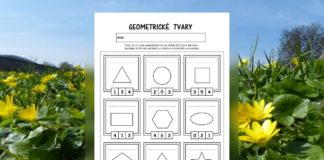 Geometrické tvary - pracovné listy