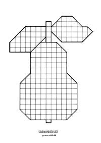 Hruška - mozaika - jesenné výtvarné námety pre deti