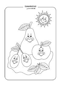 Jesenné omaľovánky na vytlačenie