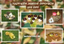Jesenné dekorácie pre deti