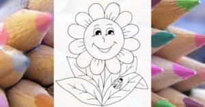 Slnečnica - online omaľovánka