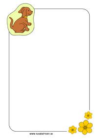 Listový papier pre deti so psíkom