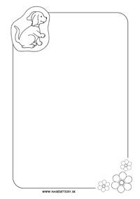 Listový papier so psíkom
