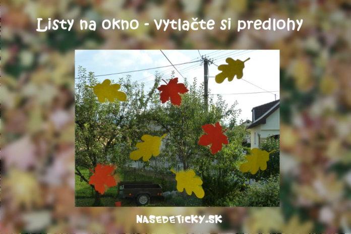 Listy na okno - jesenné dekorácie na okno