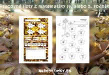 Pracovné listy z matematiky pre piatakov
