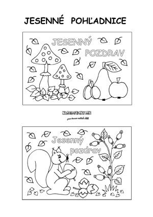 Jesenné pohľadnice