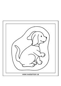 Pes - obrázok pre deti na vyfarbenie