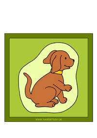 Psík - obrázok pre deti farebný