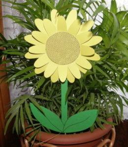 Slnečnica - dekorácia pre deti