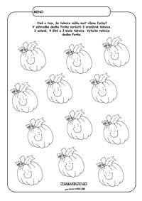 Tekvice - Jesenné pracovné listy