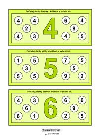 Čísla - pracovné listy pre deti