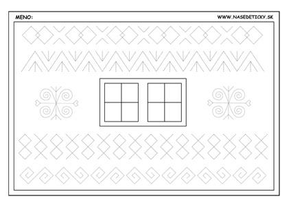 Čičmanské ornamenty - pracovné listy pre deti