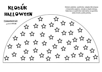Klobúk s hviezdičkami - Halloween