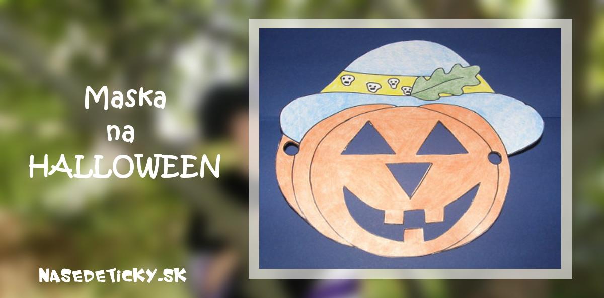 Maska tekvica - Halloween