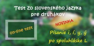 Online test pre druhákov - slovenský jazyk