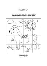 Koník - puzzle pre deti