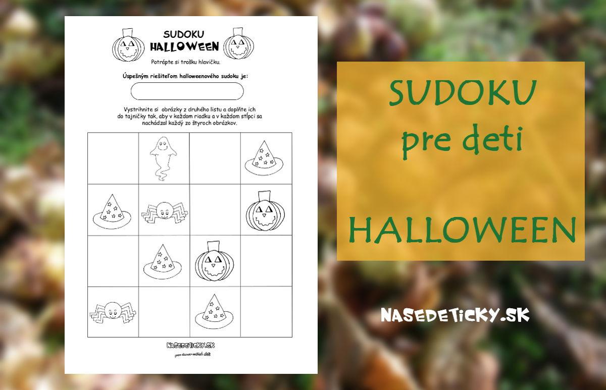 Sudoku pre deti - Halloween