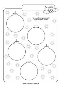 Vianočné želania - pracovný list