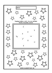 Vianočné pracovné listy - spájame bodky podľa čísel