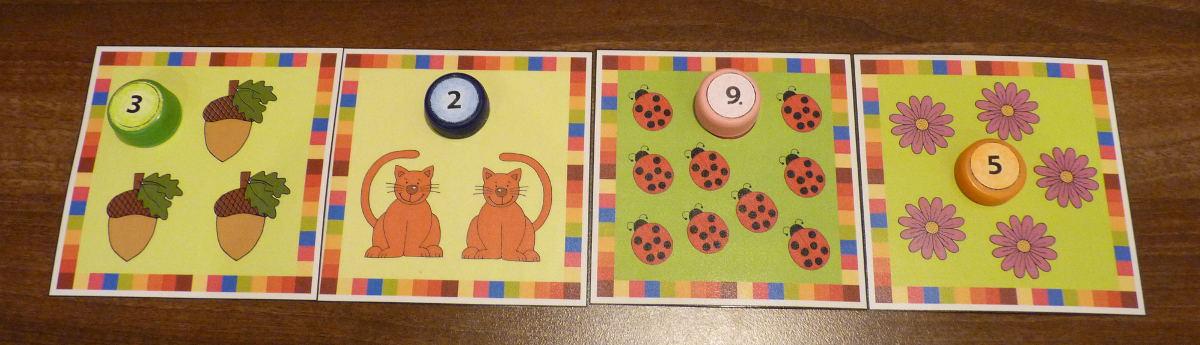 Kartičky - počítame do 10 - pre deti