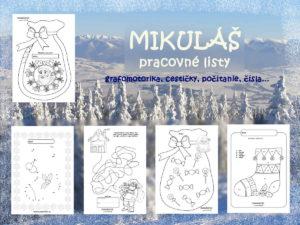 Mikuláš - pracovné listy