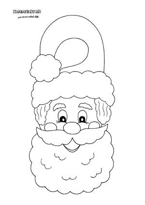 Mikuláš (Santa) - visačka na dvere