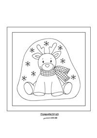 Sobík - Vianočná omaľovánka