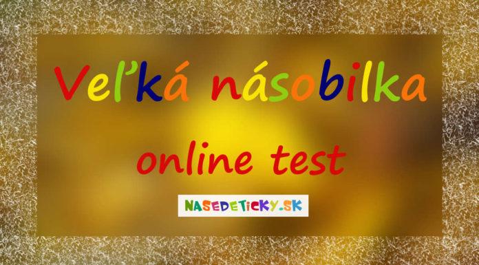 Veľká násobilka - online test