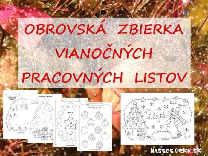 Vianočné pracovné listy
