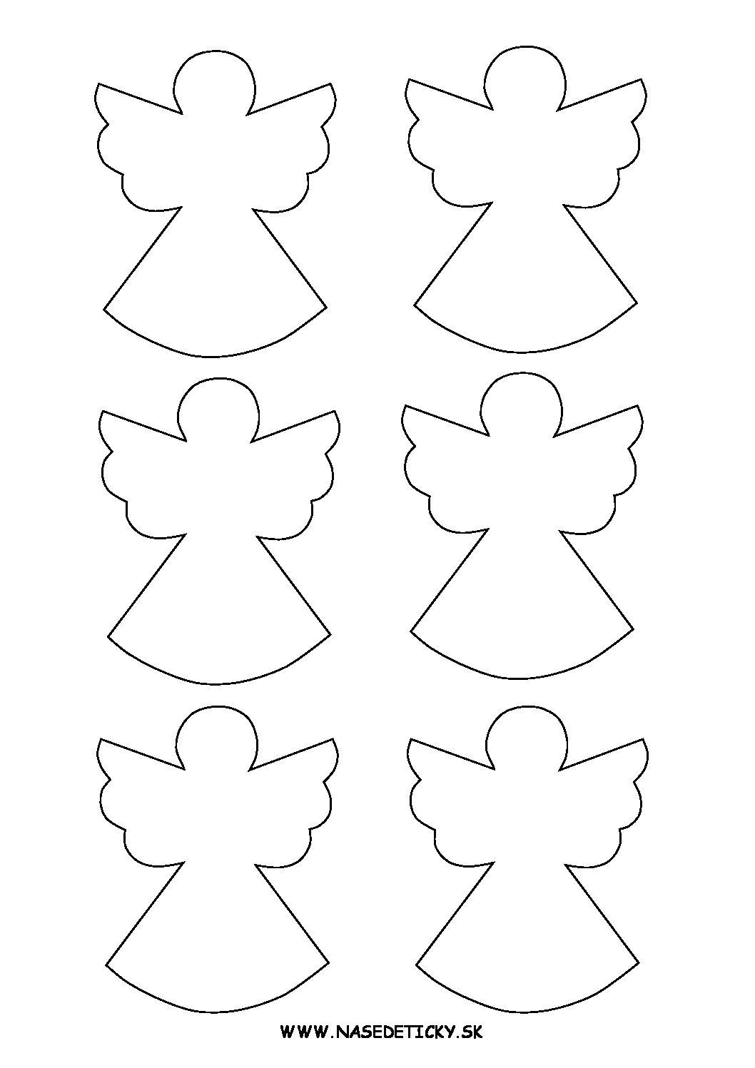 Anjelik - predloha, maketa - Vianoce