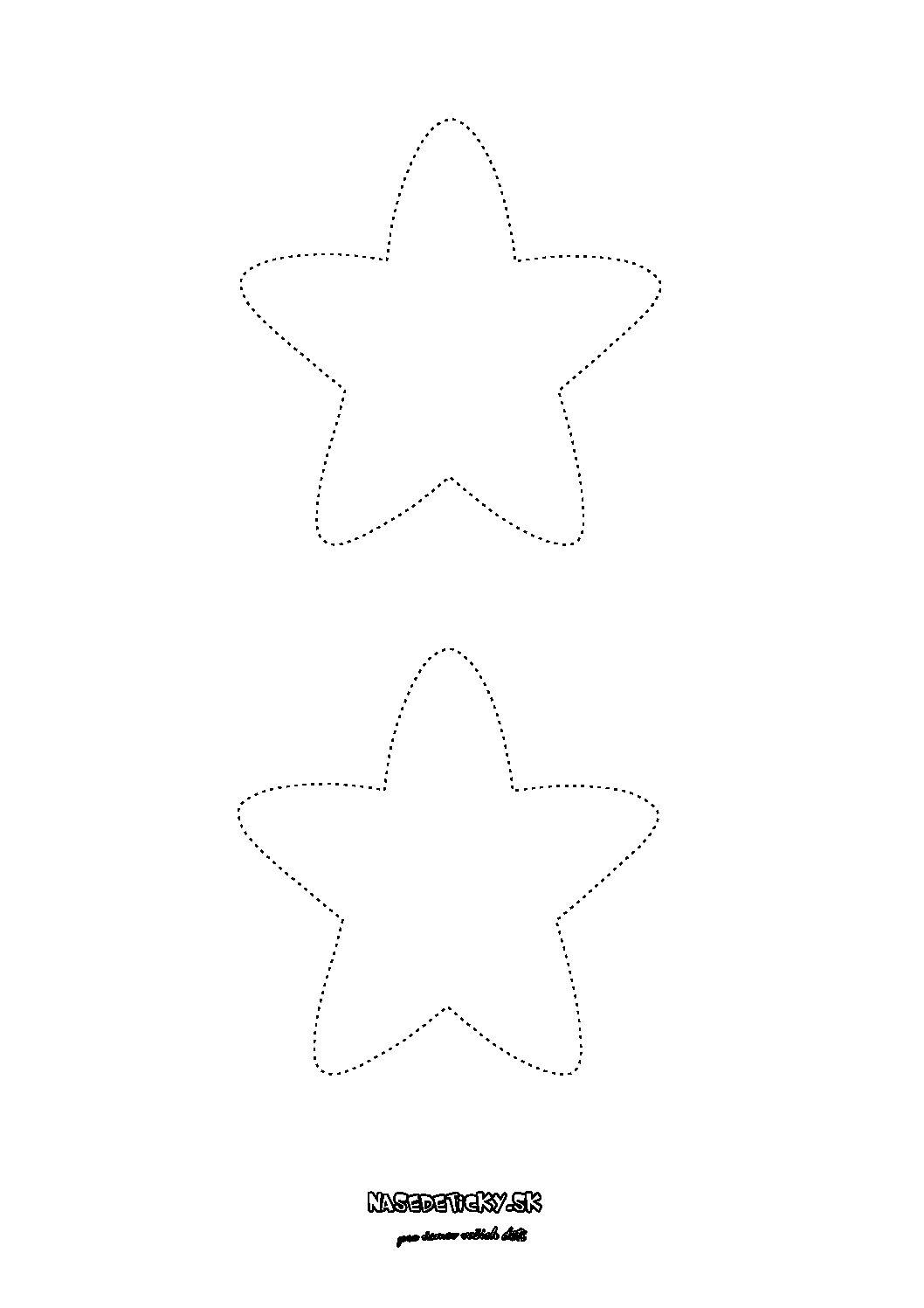 Hviezda - predloha, maketa - Vianoce