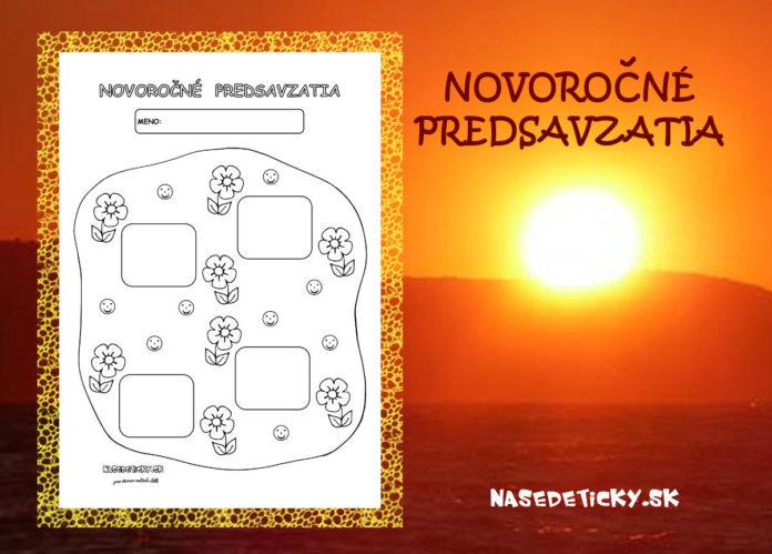 Novoročné predsavzatia - aktivity pre deti na Nový rok