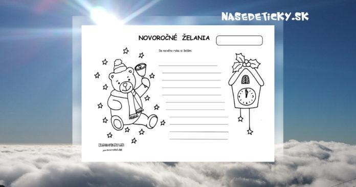 Novoročné želania - aktivity pre deti