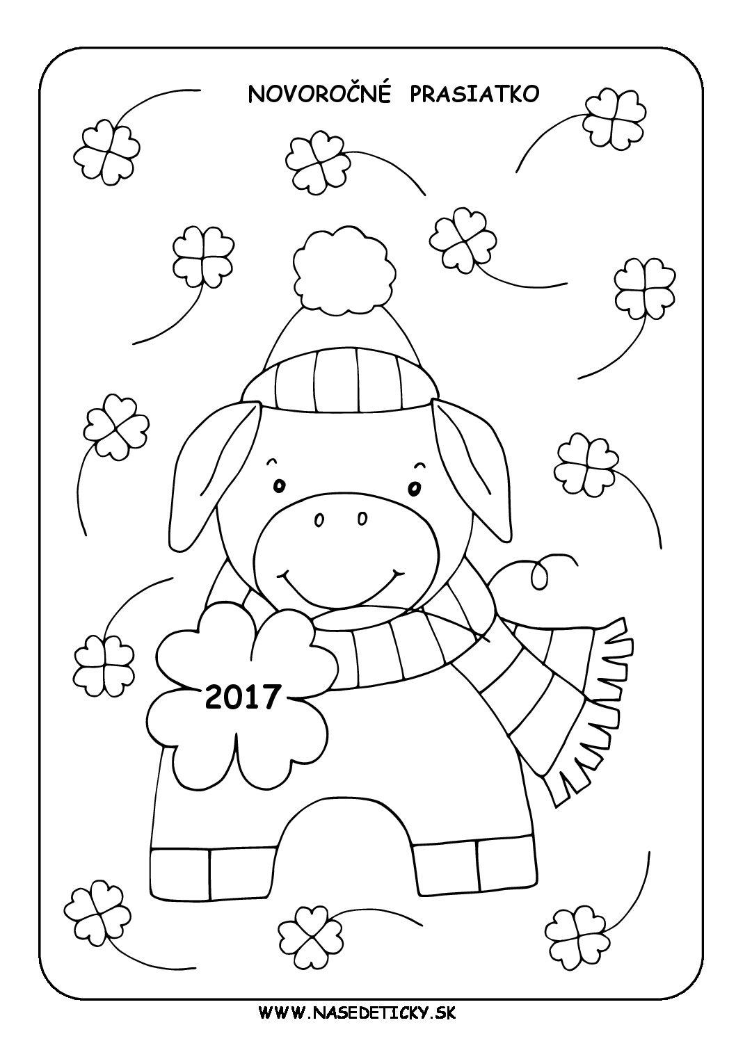 Novoročné prasiatko - aktivity pre deti