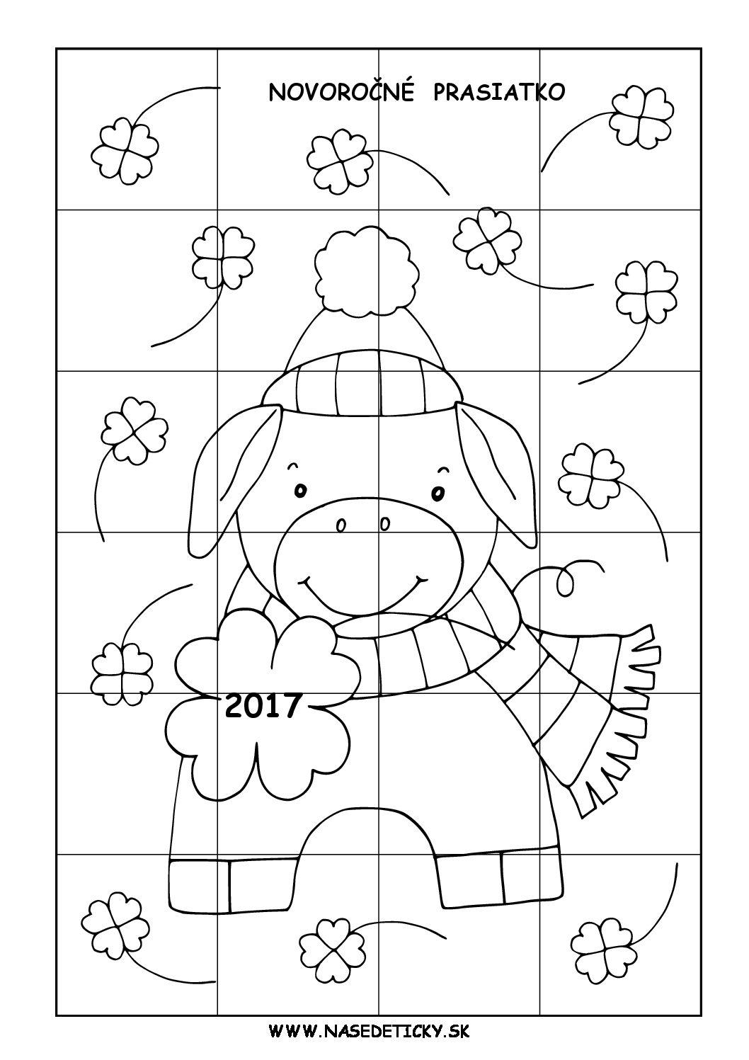 Puzzle - novoročné prasiatko