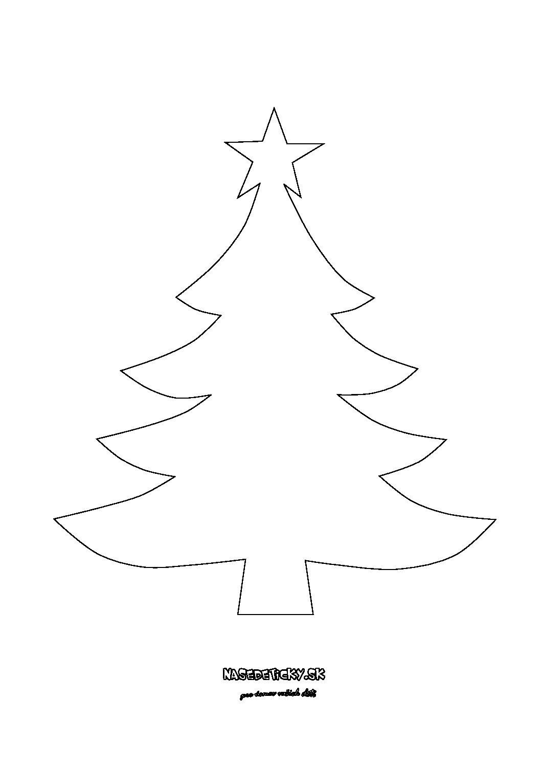 Stromček - predloha, maketa - Vianoce