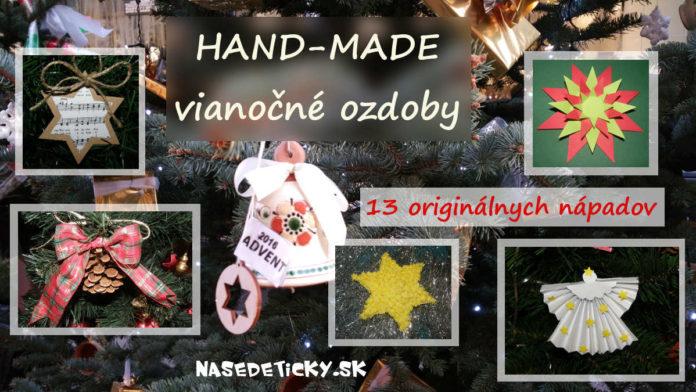 Vianočné hand-made ozdoby na stromček