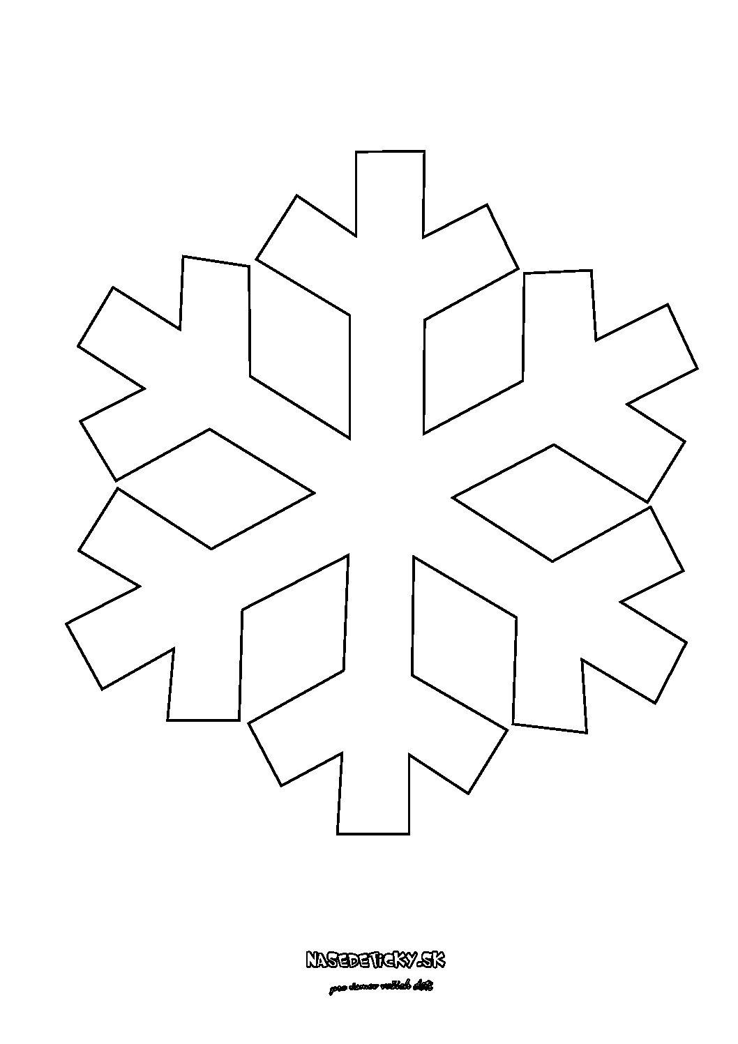 Snehová vločka - predloha, maketa - Vianoce