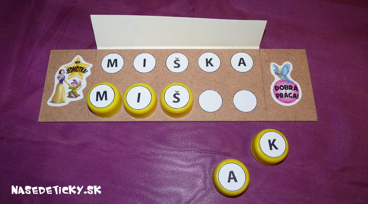 Montessori hračky pre deti - písmenká v mene