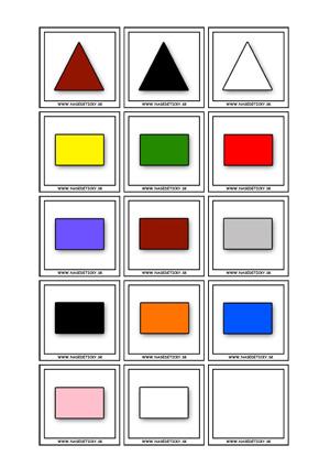 Pexeso - geometrické tvary a farby