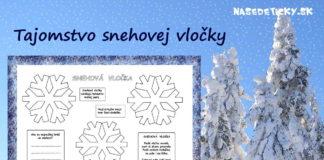 Snehová vločka - pracovný list pre deti